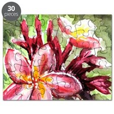 Pink Tropical Flowers Puzzle