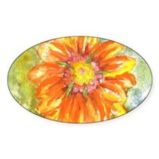 Orange Daisy Decal