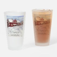 Red House Drinking Glass
