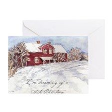 Red House Greeting Card