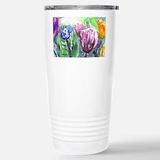 Purple Orange Tulips Travel Mug