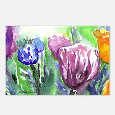 Purple Orange Tulips Postcards (Package of 8)