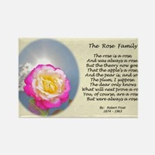 Robert Frost Poetry The Rose Fami Rectangle Magnet