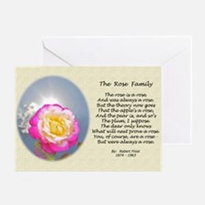 Robert Frost Poetry The Rose Family  Greeting Card