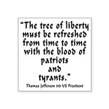 "t_j_tree_liberty Square Sticker 3"" x 3"""