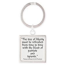 t_j_tree_liberty Square Keychain