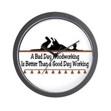 A bad day woodworking Wall Clock