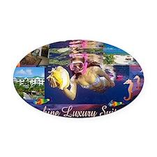Sunshine Luxury Suite Oval Car Magnet