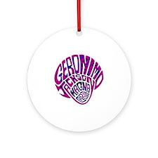 GeronimoJackson03_12x12W Round Ornament