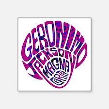 "GeronimoJackson03_12x12W Square Sticker 3"" x 3"""