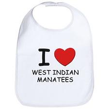 I love west indian manatees Bib
