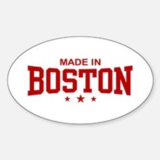 Made in Boston Oval Decal