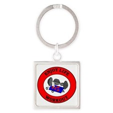 workout2 Square Keychain