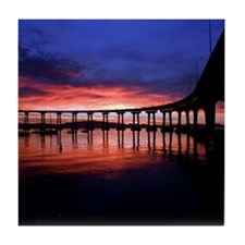 Coronado_Bridge_Sunrise Tile Coaster