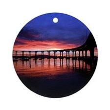 Coronado_Bridge_Sunrise Round Ornament