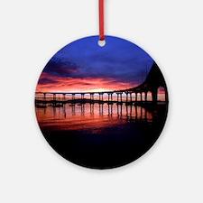 Coronado_Bridge_Sunrise Round Ornament