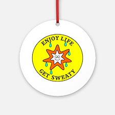 sweaty2 Round Ornament