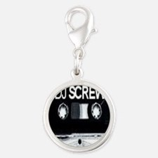 screw tape Silver Round Charm
