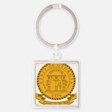 Georgia Seal Square Keychain