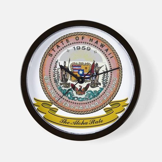Hawaii Seal Wall Clock