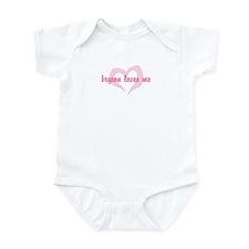 """""""bryson loves me"""" Infant Bodysuit"""