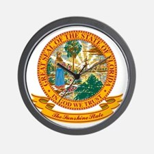 Florida Seal Wall Clock