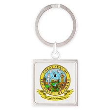 Idaho Seal Square Keychain