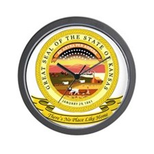 Kansas Seal Wall Clock