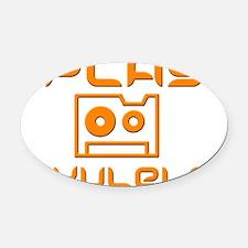 retro iPlay Ukulele Uke Oval Car Magnet