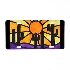 desert-daze-poster Aluminum License Plate