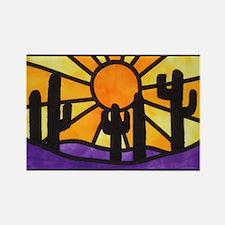 desert-daze-poster Rectangle Magnet