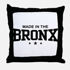 Made in the Bronx Throw Pillow