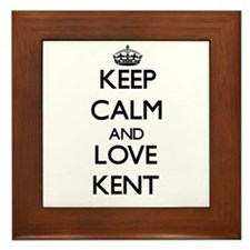 Keep Calm and Love Kent Framed Tile
