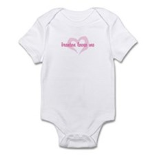 """""""brenton loves me"""" Infant Bodysuit"""