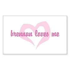 """brennan loves me"" Rectangle Decal"