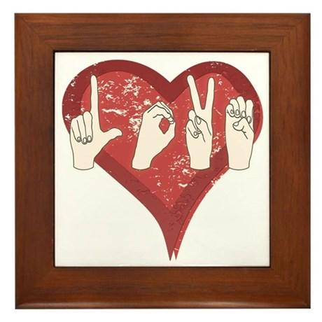 LoveASL Framed Tile