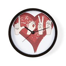 LoveASL Wall Clock