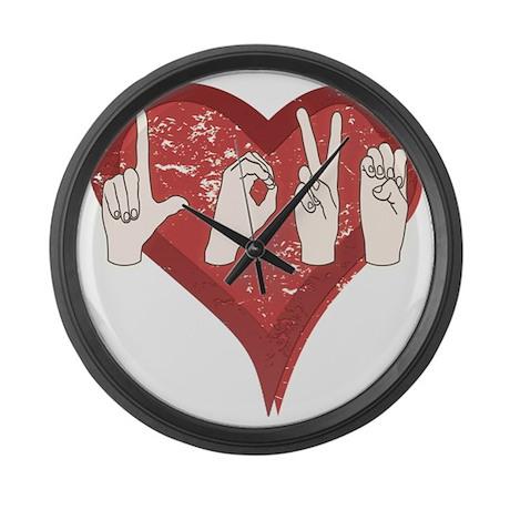LoveASL Large Wall Clock