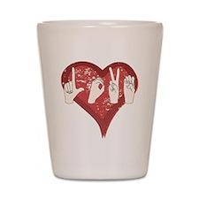 LoveASL Shot Glass