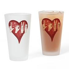 LoveASL Drinking Glass