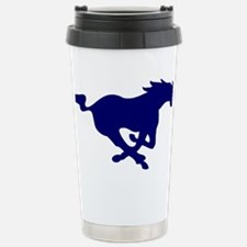 running mustang-blue Stainless Steel Travel Mug