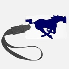 running mustang-blue Luggage Tag