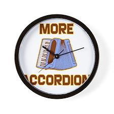 More Accordion-1 Wall Clock