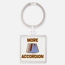 More Accordion-1 Square Keychain