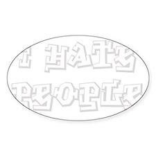 Ihate-people_ltgray Decal