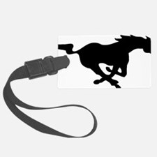 running mustang-black Luggage Tag