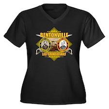 Bentonville  Women's Plus Size Dark V-Neck T-Shirt