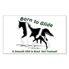 SSH Born to Glide Rectangle Decal