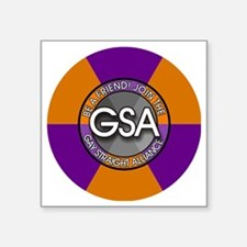 "GSAbuttonPurpleOrange Square Sticker 3"" x 3"""