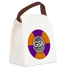 GSAbuttonPurpleOrange Canvas Lunch Bag